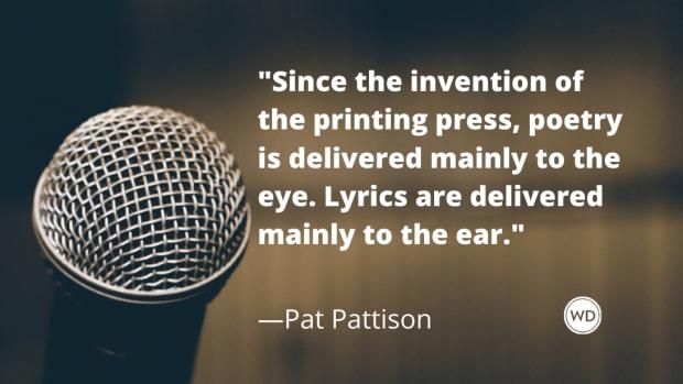 Lyric Writing vs. Poetry, Pat Pattison