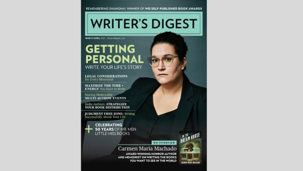 Writer's Digest March/April 2021 Cover featuring Carmen Maria Machado