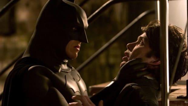 Christian Bale stars as Batman in Warner Bros. Pictures' action-adventure Batman Begins, written by Bob Kane (characters), David S. Goyer (story, screenplay) and Christopher Nolan (screenplay). PHOTOS: David James ©2005 Warner Bros. Entertainment Inc.