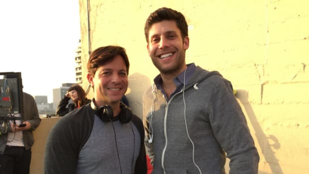 Screenwriters Scott Neustadter and Michael Weber, THE DISASTER ARTIST. Photo by Julie Neustadter.