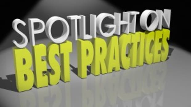 Spotlight on Best Practices 3d words Good Successful Ideas