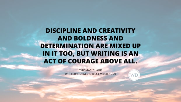 Writing is an act of courage