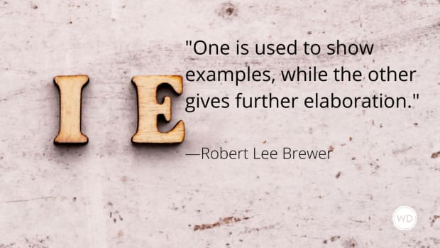 e.g. vs. i.e. (Grammar Rules)