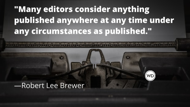 When is something considered published? When is writing published?