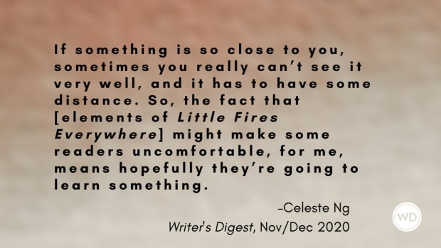 Celeste Ng Quote from Writer's Digest