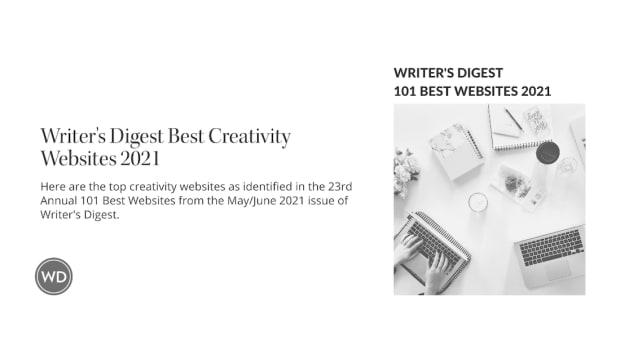 Writer's Digest Best Creativity Websites 2021