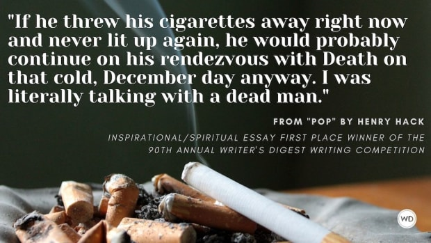 """Writer's Digest 90th Annual Competition Inspirational/Spiritual Essay First Place Winner: """"Pop"""""""