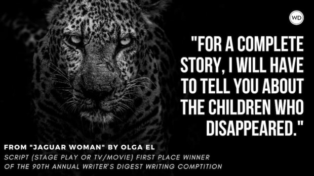 """Writer's Digest 90th Annual Competition Script (Stage Play or TV/Movie) First Place Winner: """"Jaguar Woman"""""""