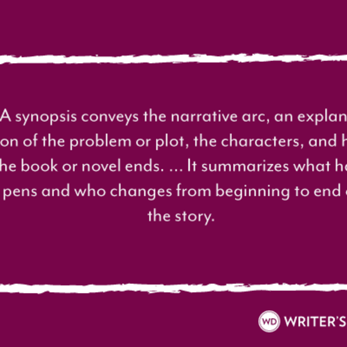 Synopsis Template Word from www.writersdigest.com