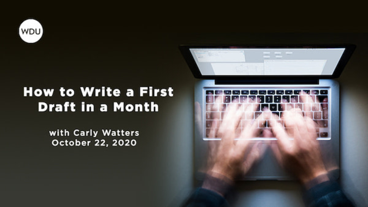 If the only thing that's holding you back from getting words on the page is no plan, this webinar has all the answers.