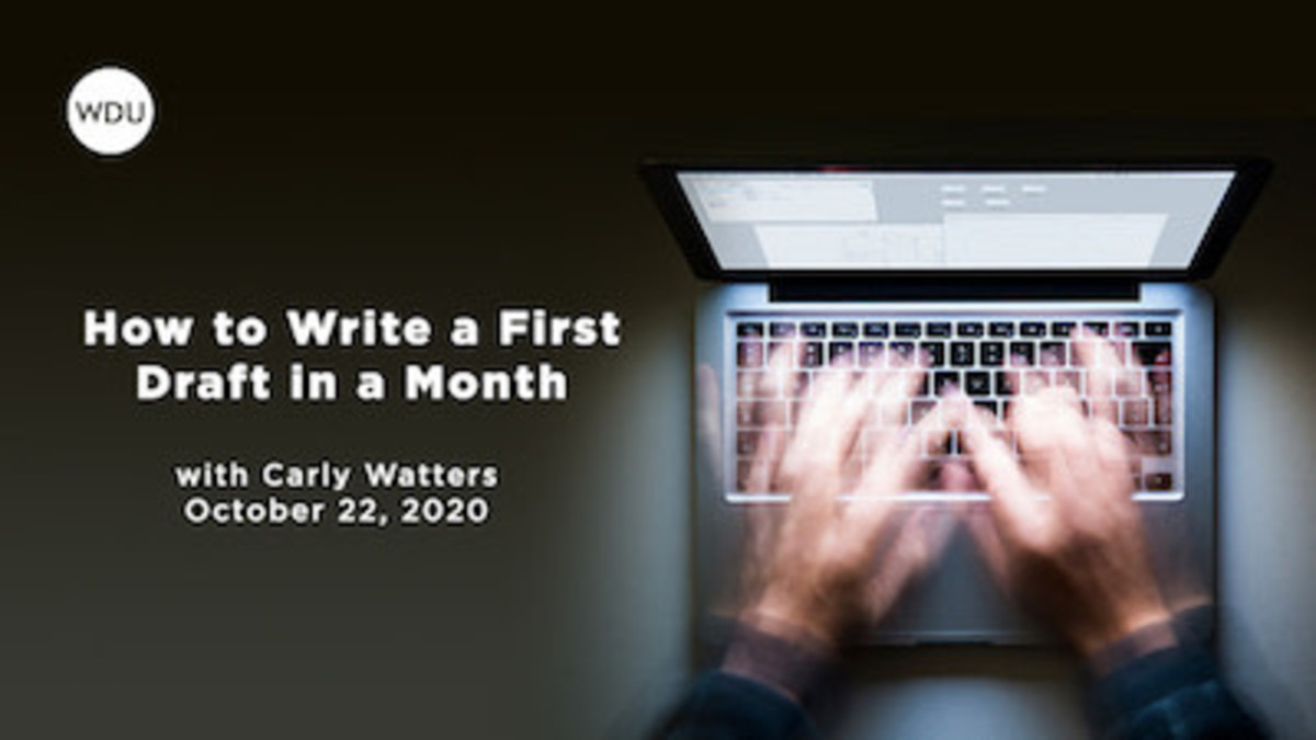 Ready to finish your first draft? This online course will show you how to ensure limited time, busy lives, or other obstacles don't get in your way.