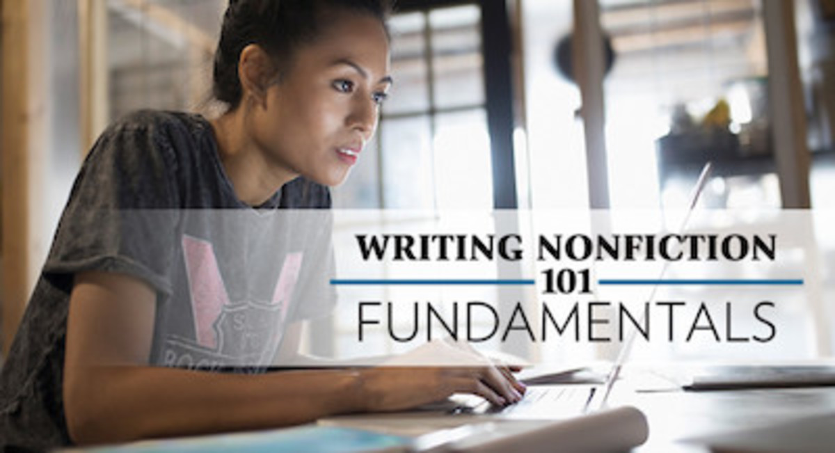Research, interview, and explore the subjects that interest you. Then write about what you've learned in Writing Nonfiction 101: Fundamentals.