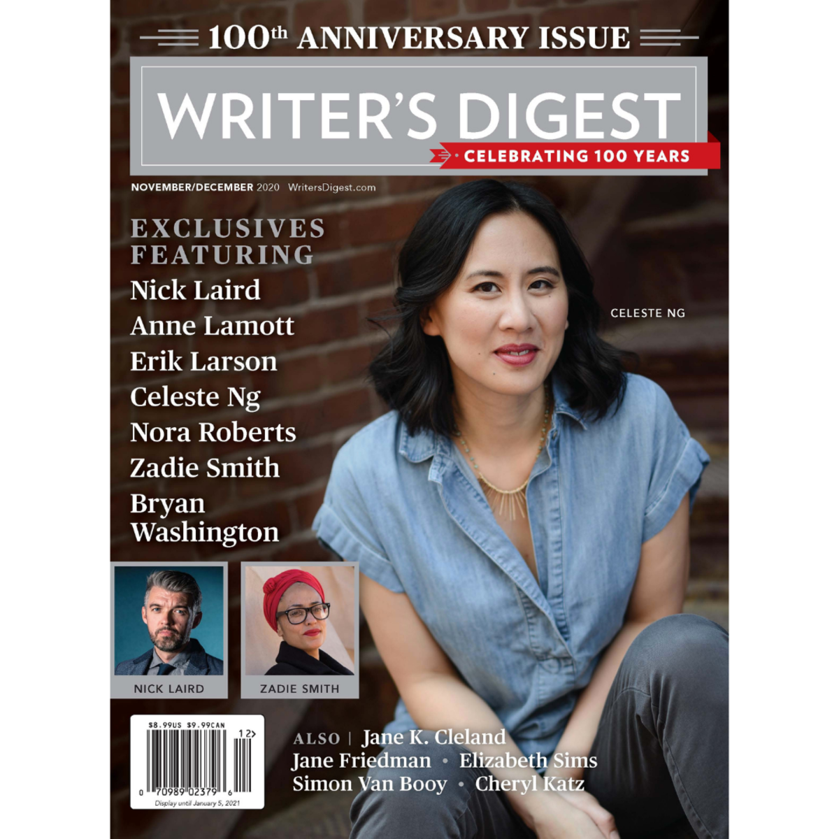 WD 100th Anniversary cover featuring Celeste Ng, author of Little Fires Everywhere.