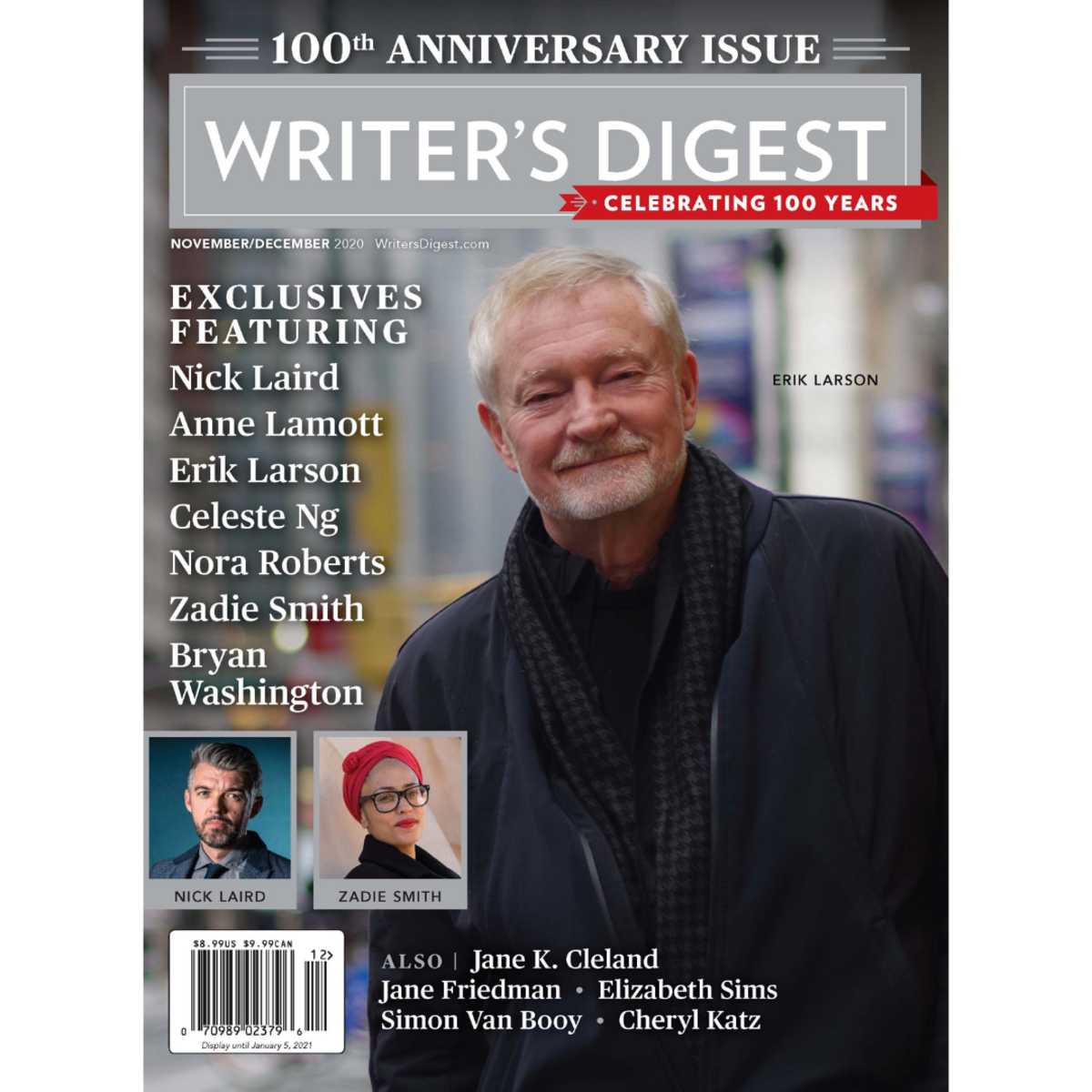 WD 100th Anniversary cover featuring Erik Larson, author of The Splendid and the Vile.