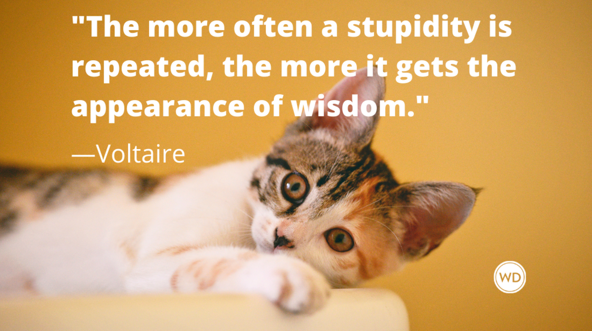 Voltaire Quotes | The more often a stupidity is repeated, the more it gets the appearance of wisdom.