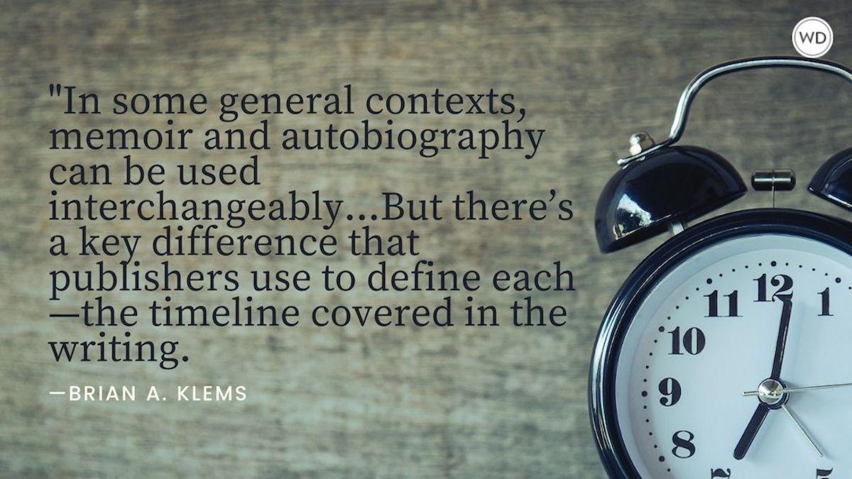 Memoir vs. Autobiography