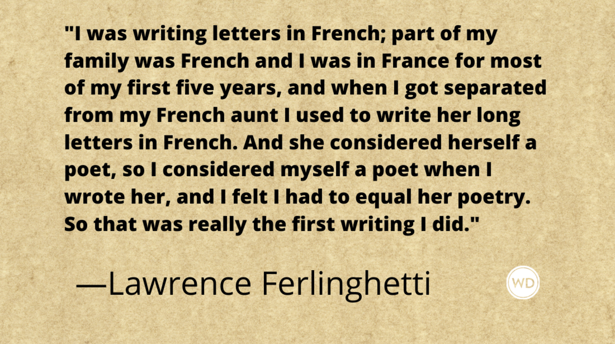 Lawrence Ferlinghetti quotes | I was writing letters in French
