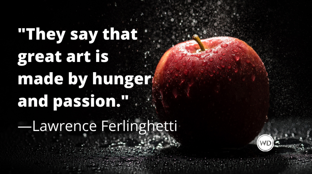Lawrence Ferlinghetti quotes | They say that great art is made by hunger and passion