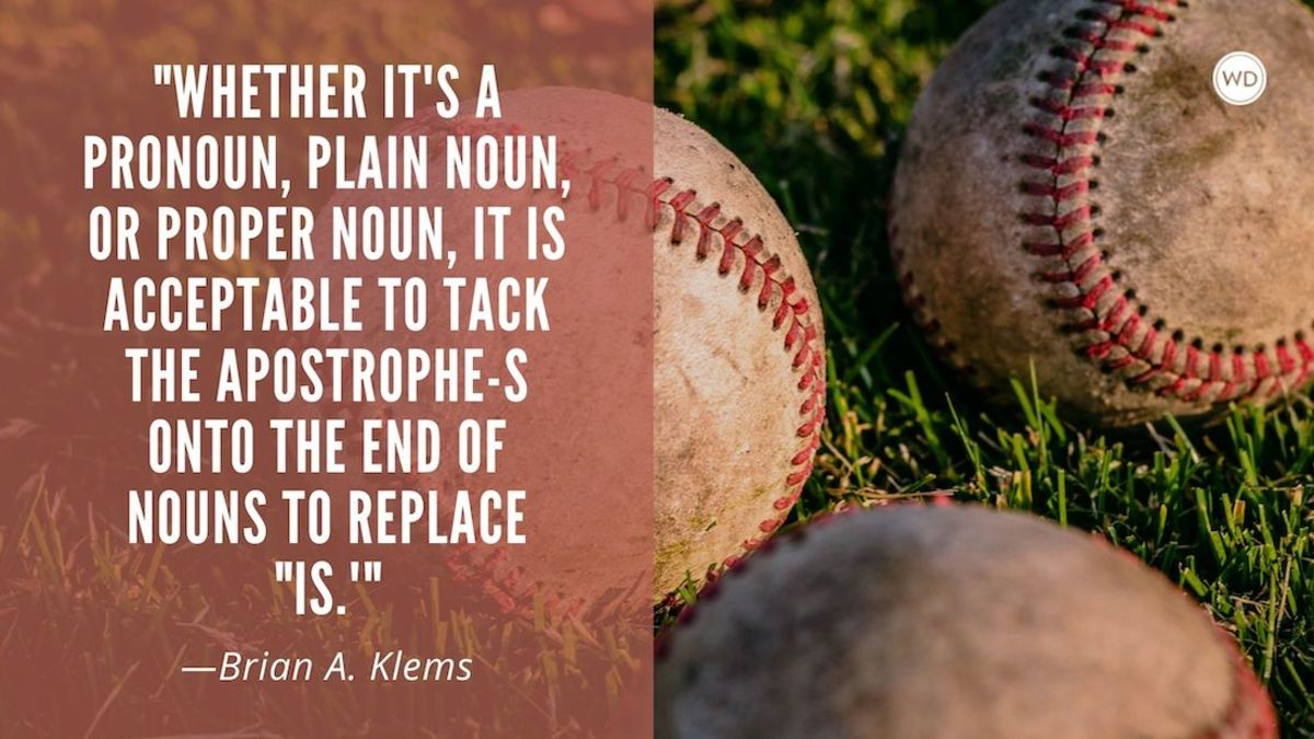 Contractions With Proper Nouns (Brian's a baseball Fan)—RIP Bill Walsh