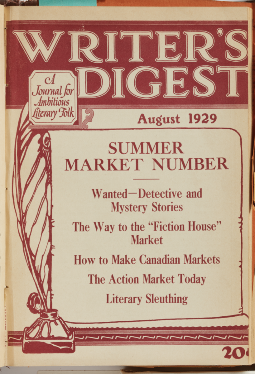 Cover of Writer's Digest August 1929 issue