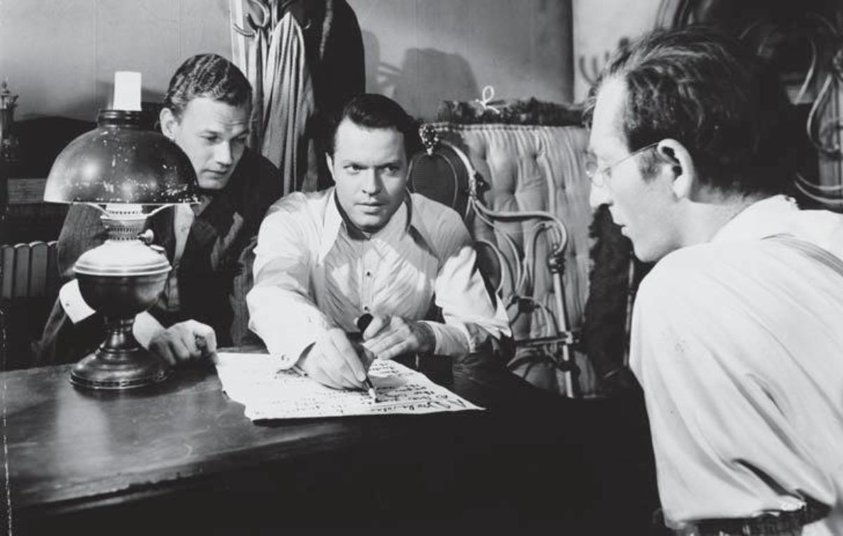 Joseph Cotten and Orson Welles in Citizen Kane