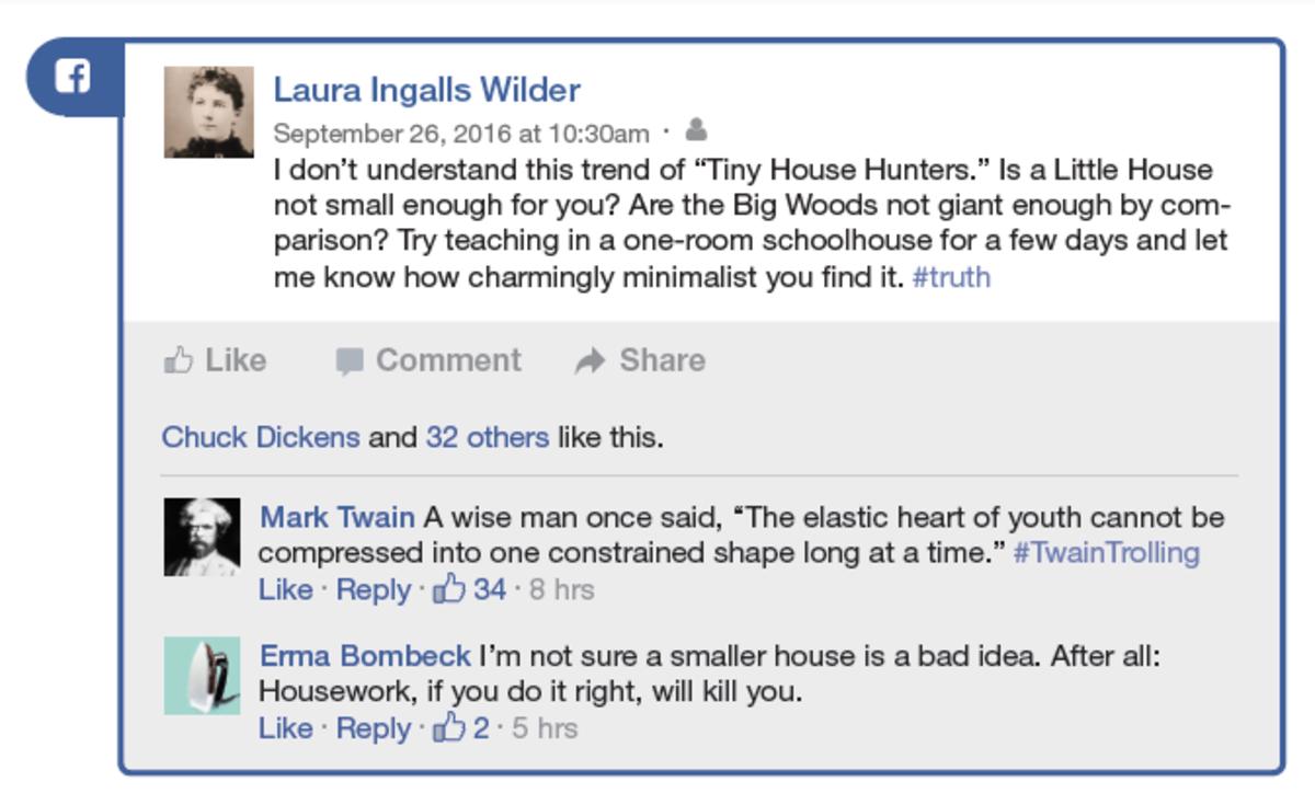 Laura Ingalls Wilder Facebook