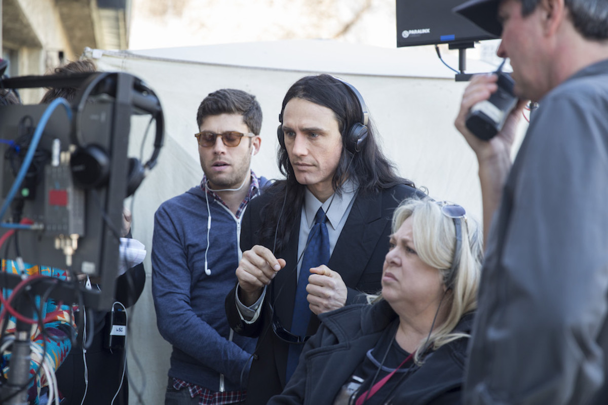 James Franco directing THE DISASTER ARTIST. Photo by Justina Mintz, courtesy of A24.