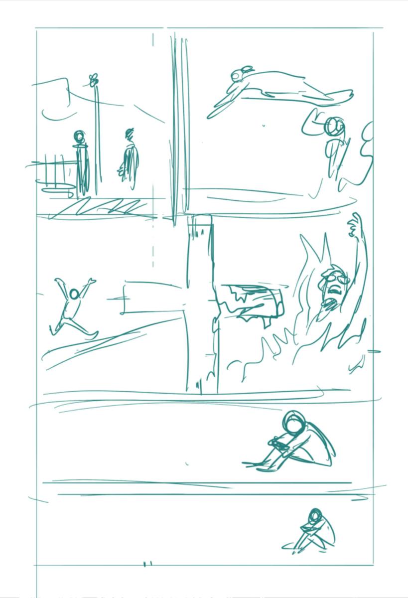 Rough sketch example.