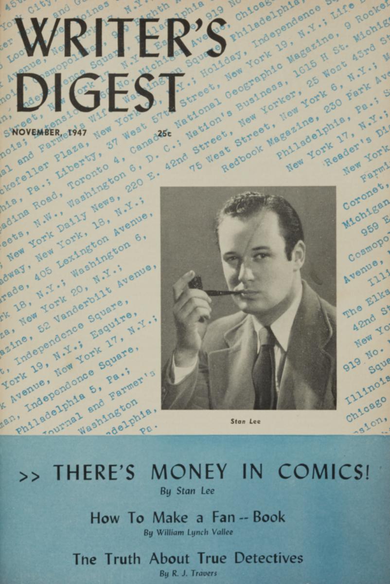 Original cover, Writer's Digest November 1947