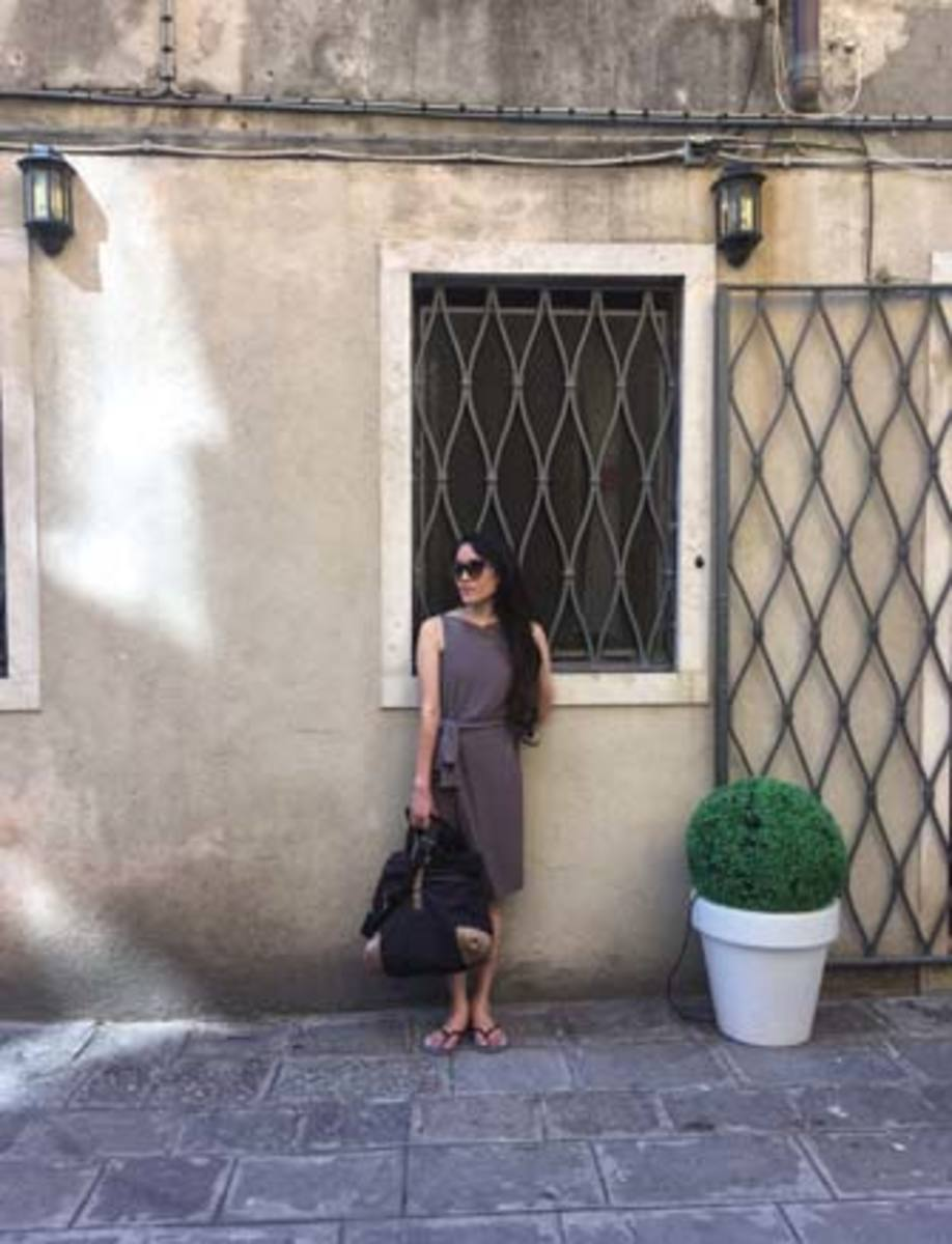 Amy Rigby isn't a luxury traveler, but she does indulge sometimes, like this vacation to Venice, Italy—her laptop was not invited.