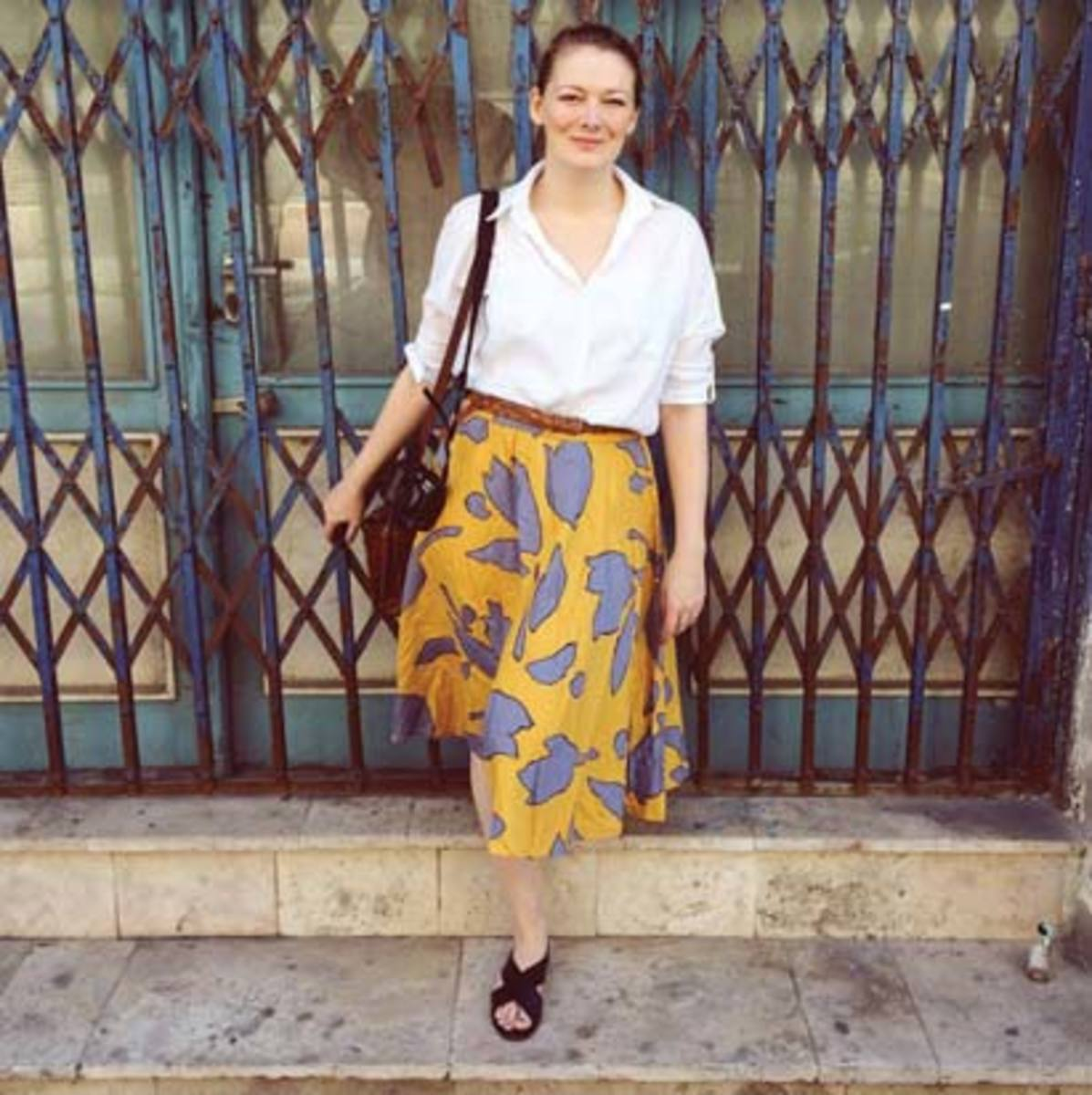 Kerry Hudson, pictured in Budapest, Hungary, likes to stay in one place for a month or two to get a feel for the culture.