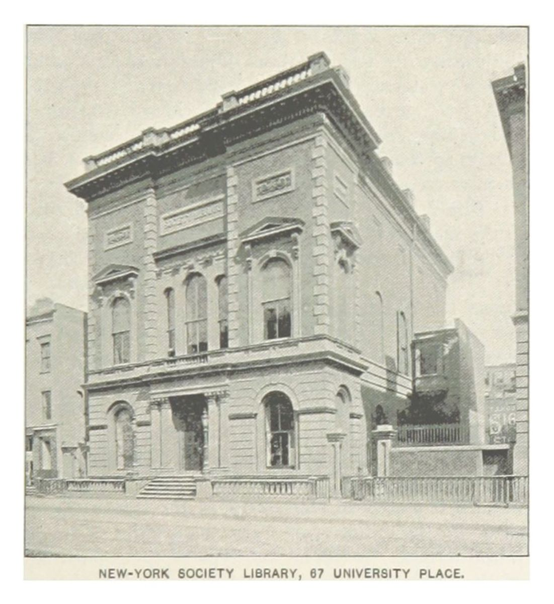 Original location of the New York Society Library, photo from 1893