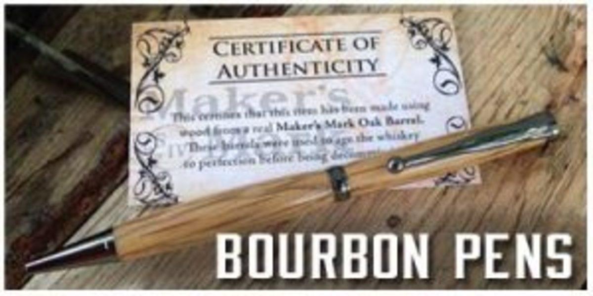 Pen made from Bourbon Barrels