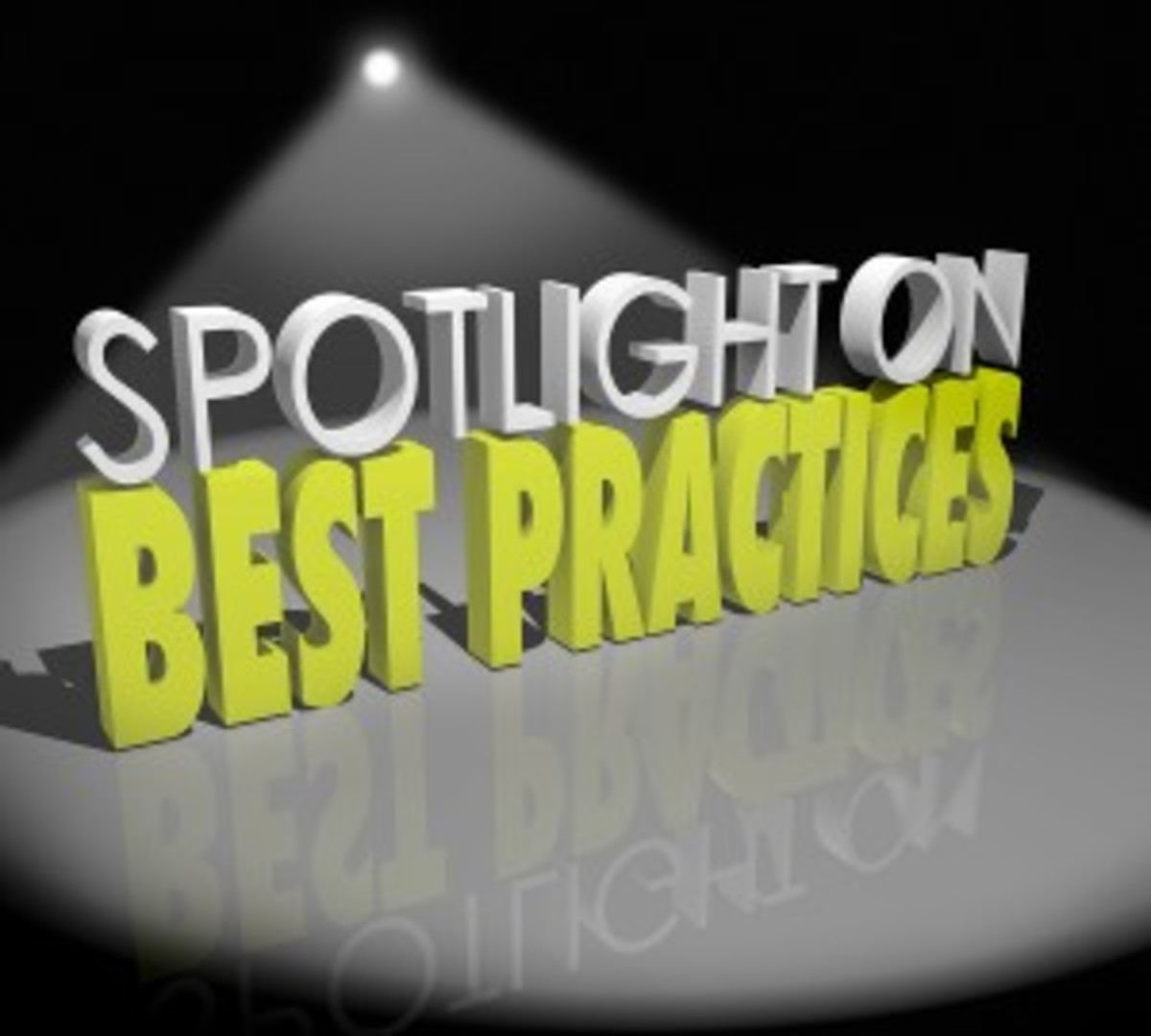 Spotlight on Best Practices 3d words Good Successful Ideas