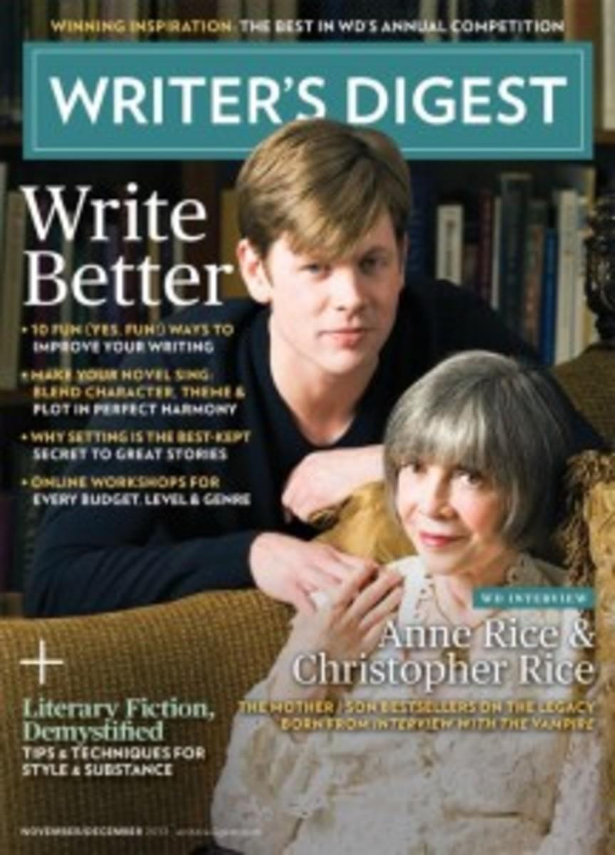 November/December 2013 Issue of Writer's Digest