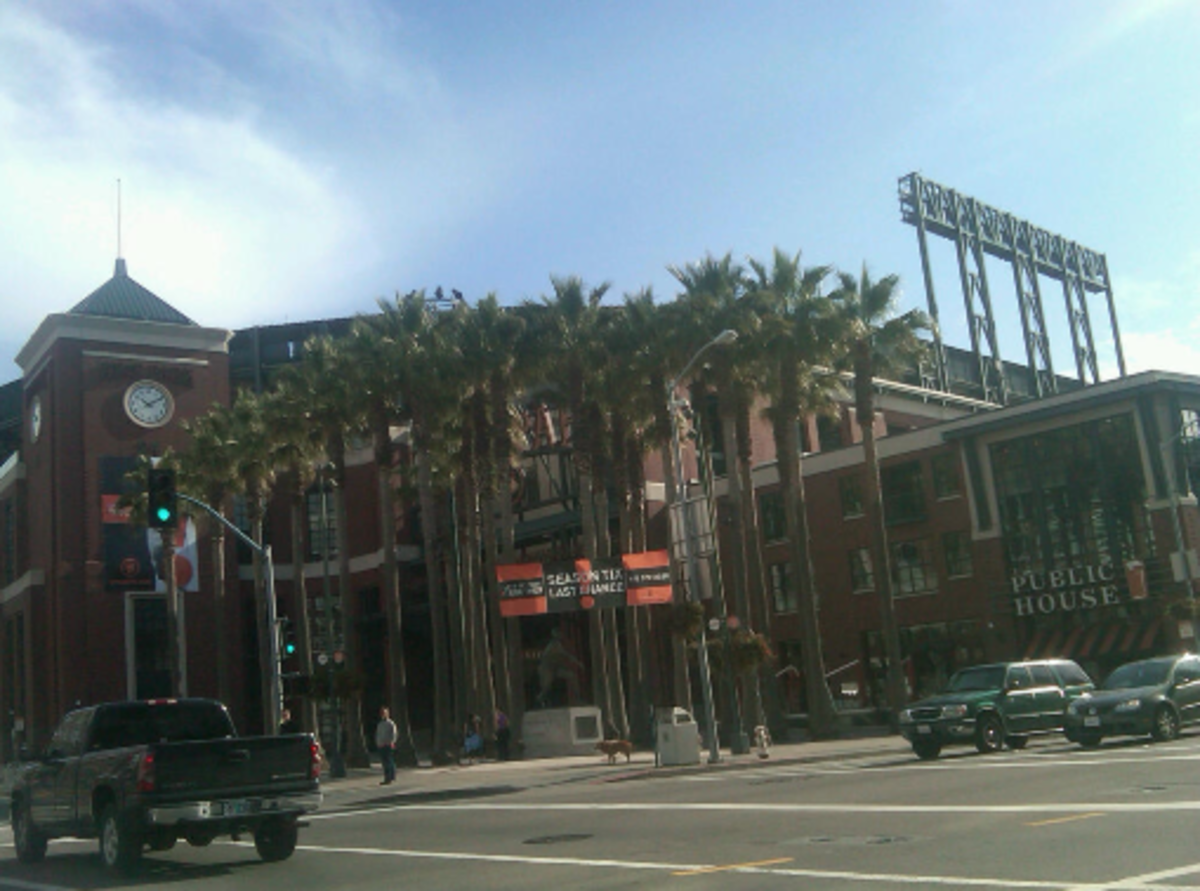 The baseball park in San Francisco. I am told it is quite beautiful inside.