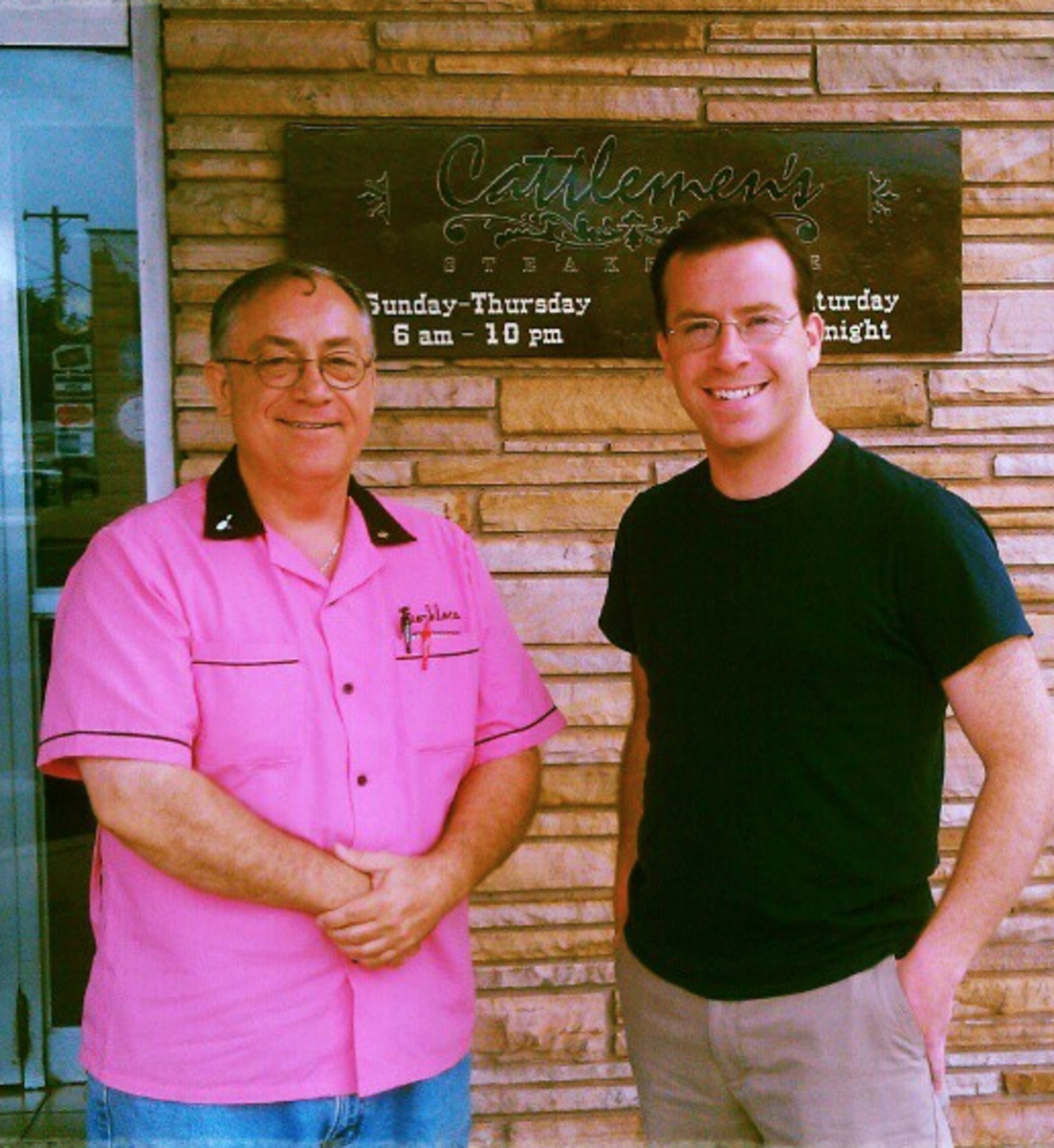 This is my OFW volunteer, Larry Mike, who helped to shepherd me around all weekend and teach me lots of stuff about the region. He even took me to get a steak at the famous Cattleman's Cafe. (The steak was delicious.)