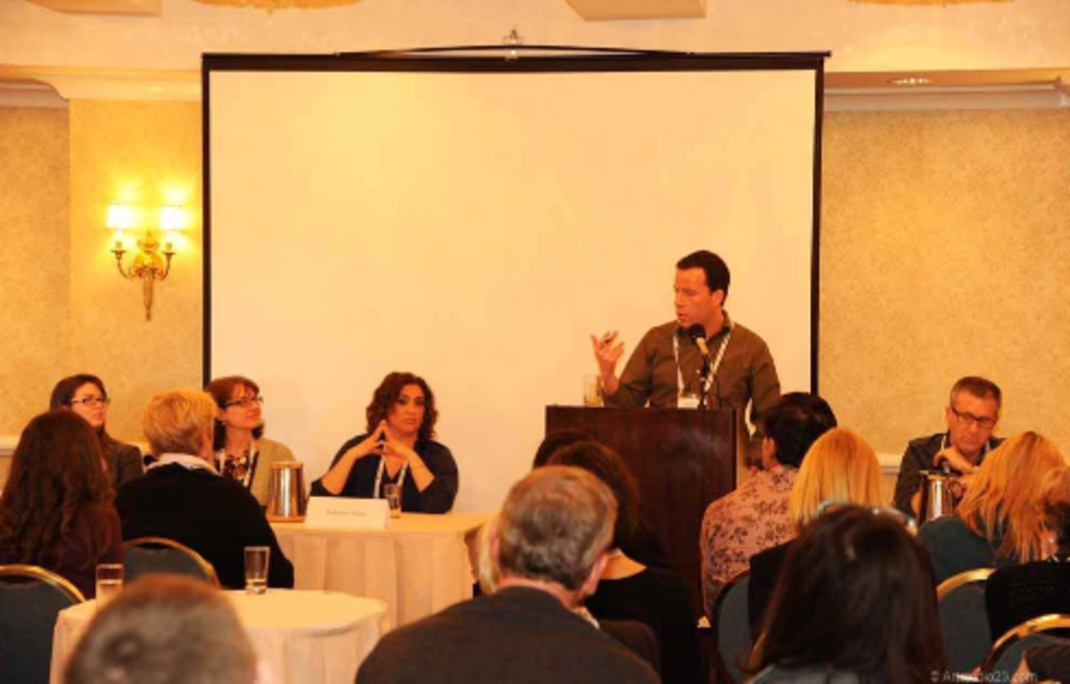 This is me moderating the agents panel at the 2012 event.