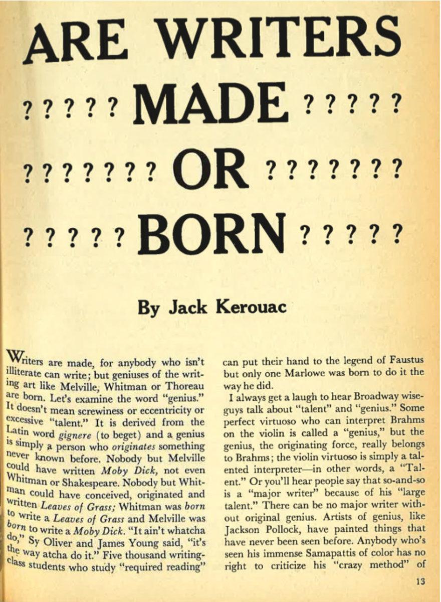 Jack Kerouac | Writer's Digest Magazine