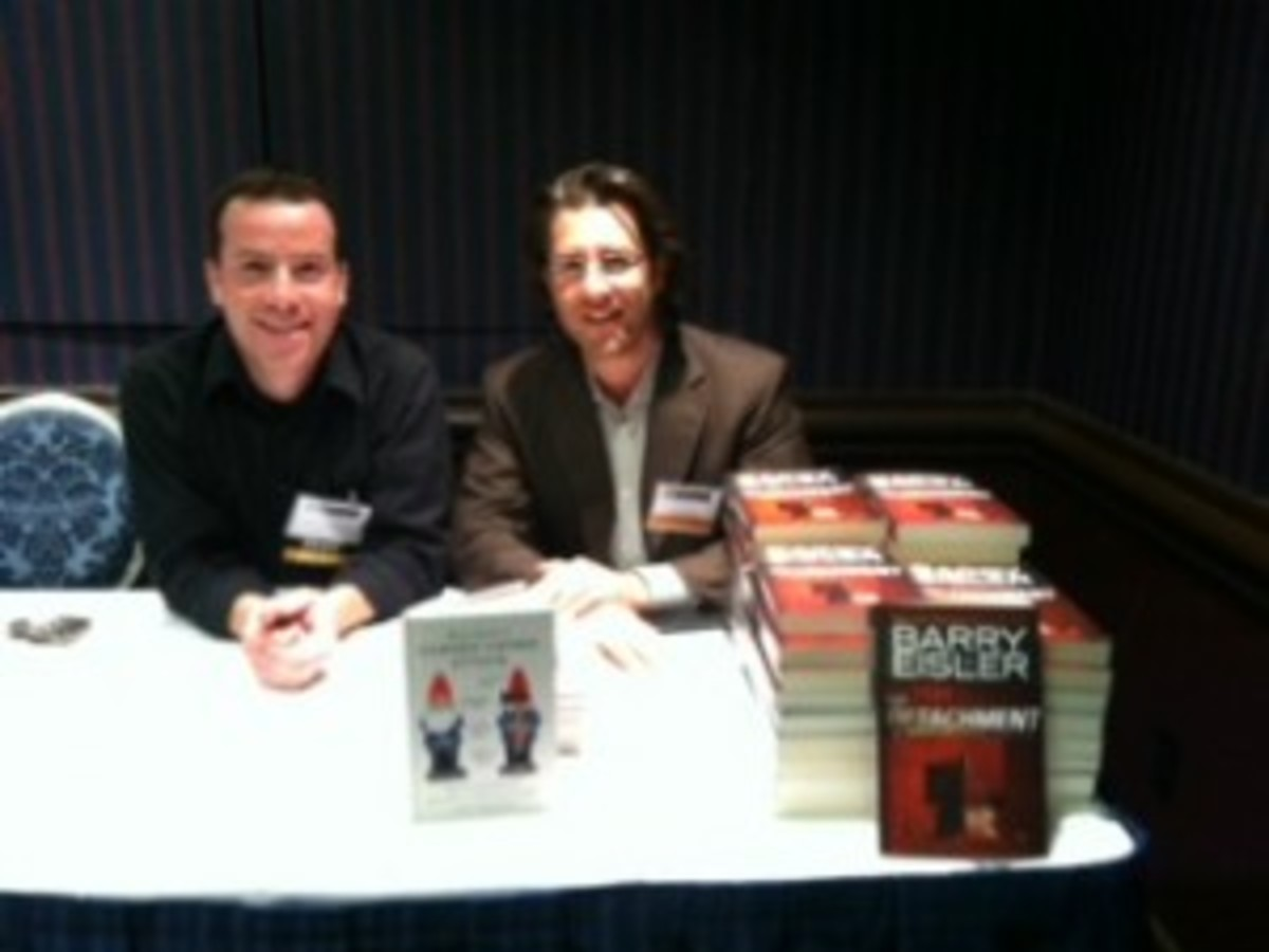 Author Barry Eisler and I. He was one of the event's keynote speakers.