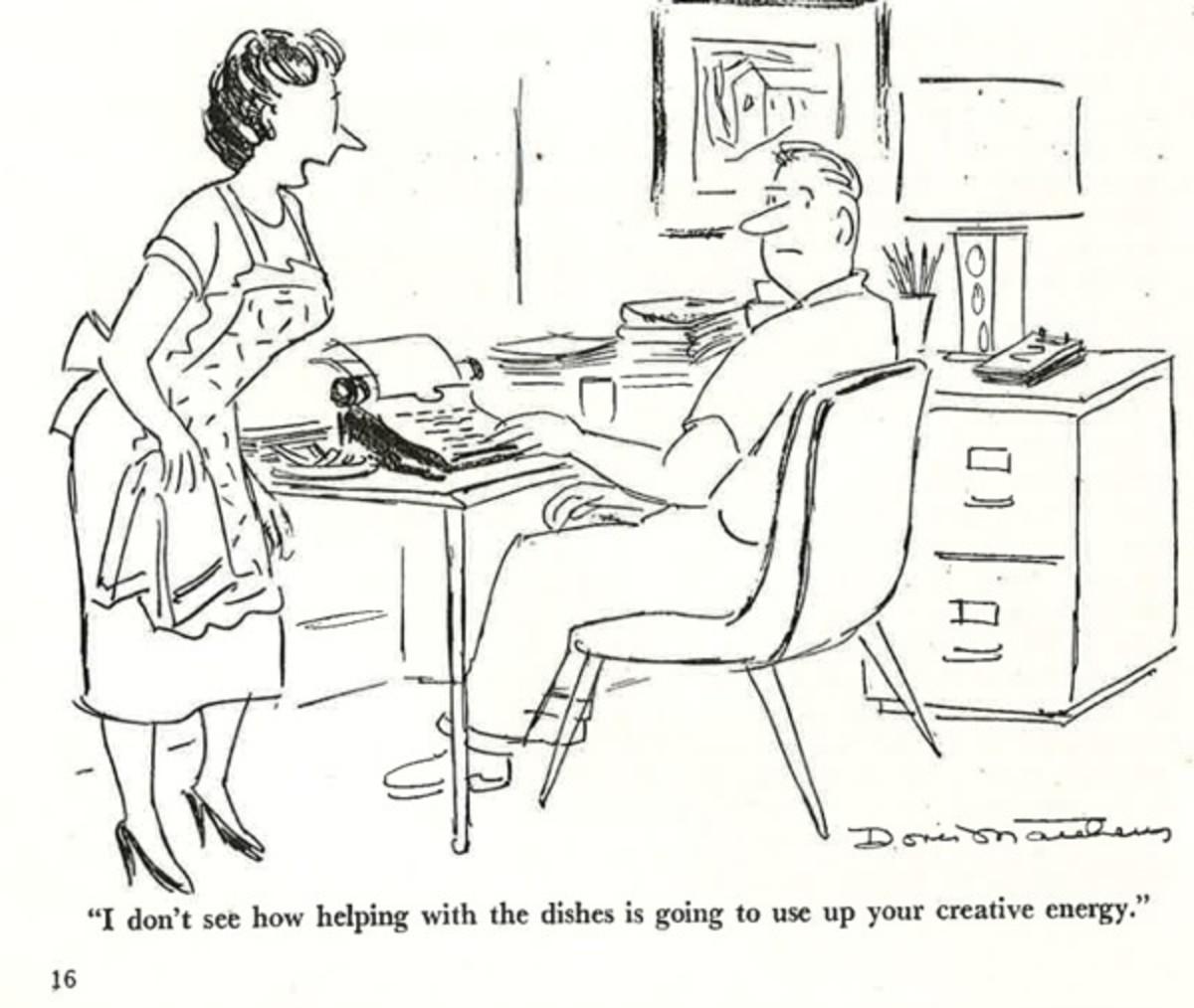 Writer's Digest magazine, 1952 | Writer Cartoons