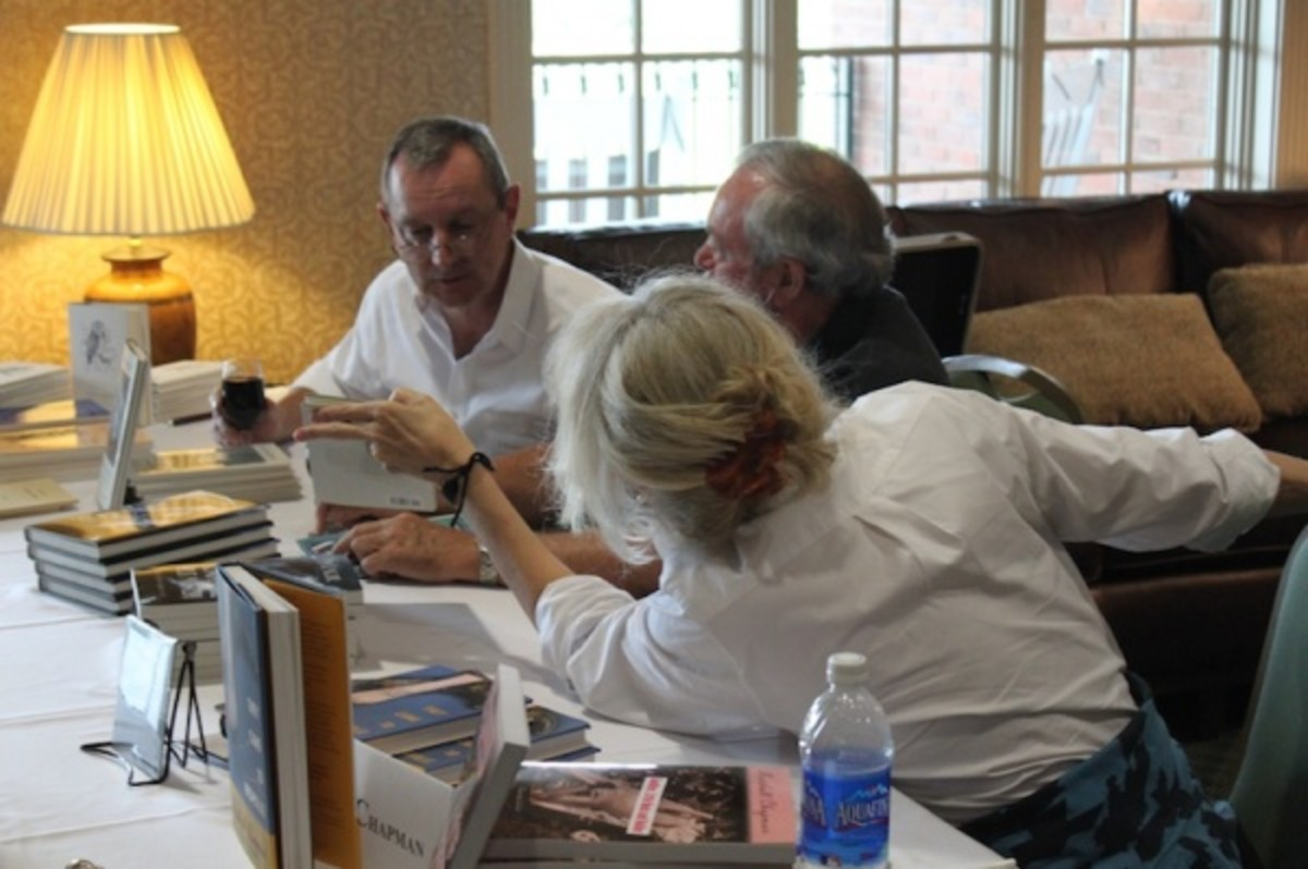 Other authors signing books at the (famously loved and revered) banquet.