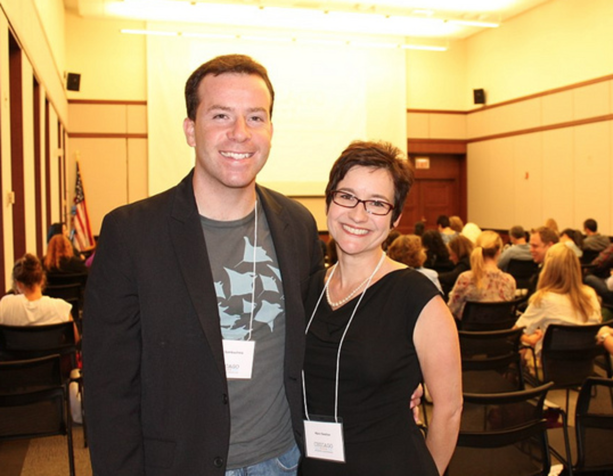 Me and conference organizer Mare Swallow.