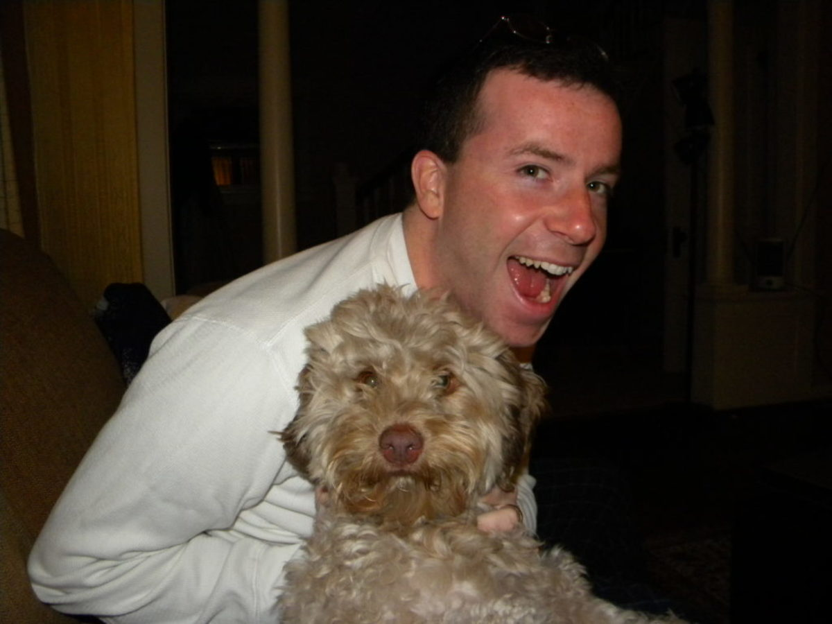 This is me and my dog, Graham.