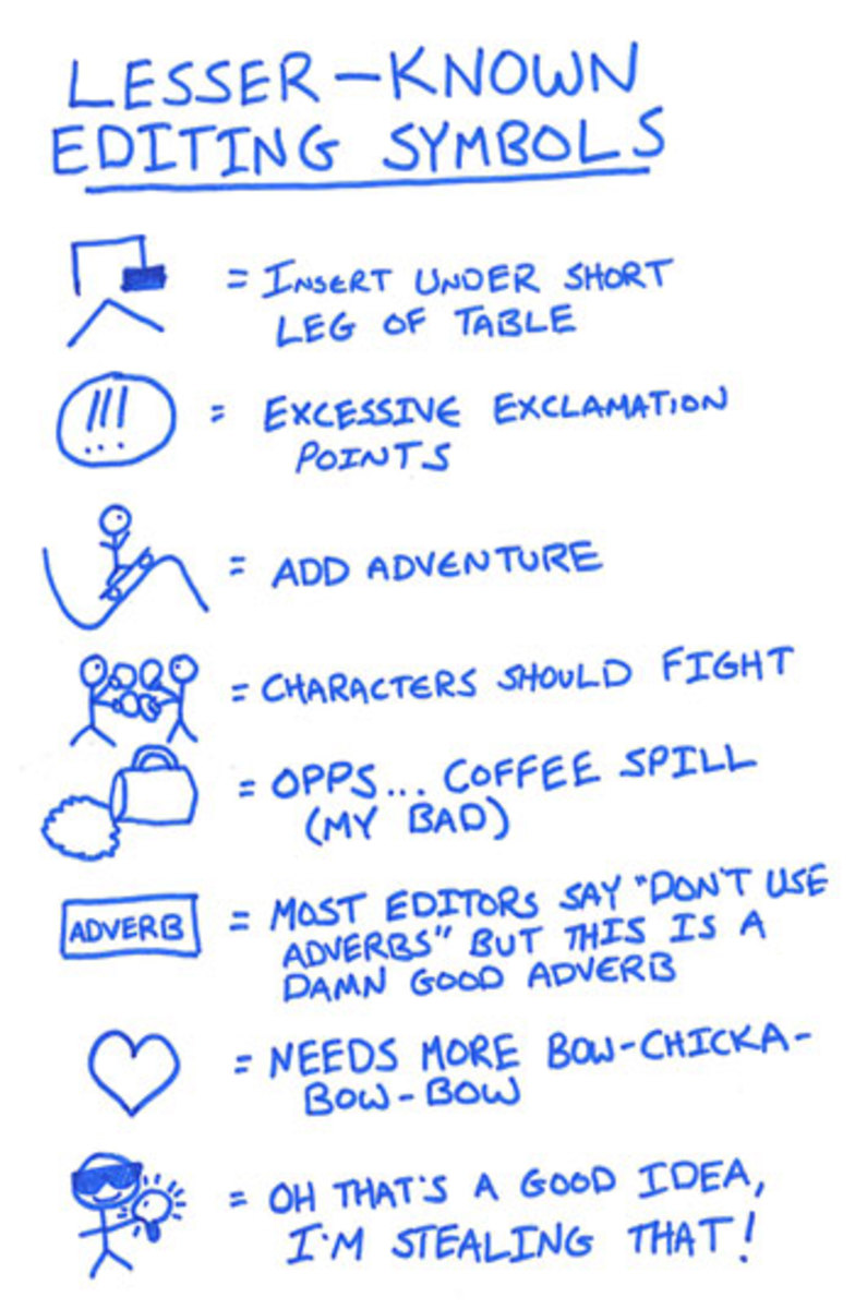 Some of our favorite uncommon copy editing marks.
