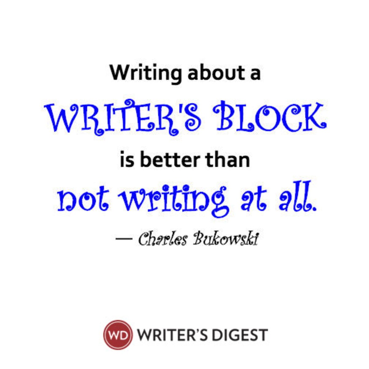 Don't let writer's block get you down, grab a copy of this free eBook to get yourself unstuck and writing again.