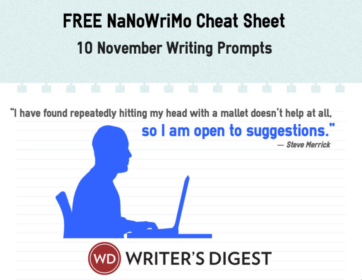 Free download with November writing prompts to help you with writer's block.