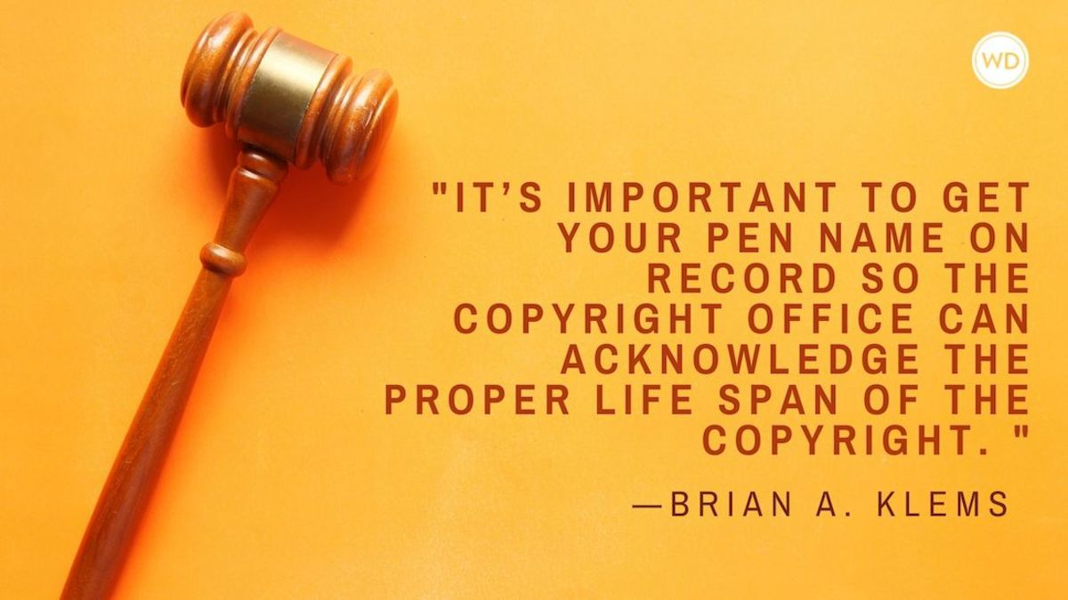 Can You Copyright a Pseudonym?