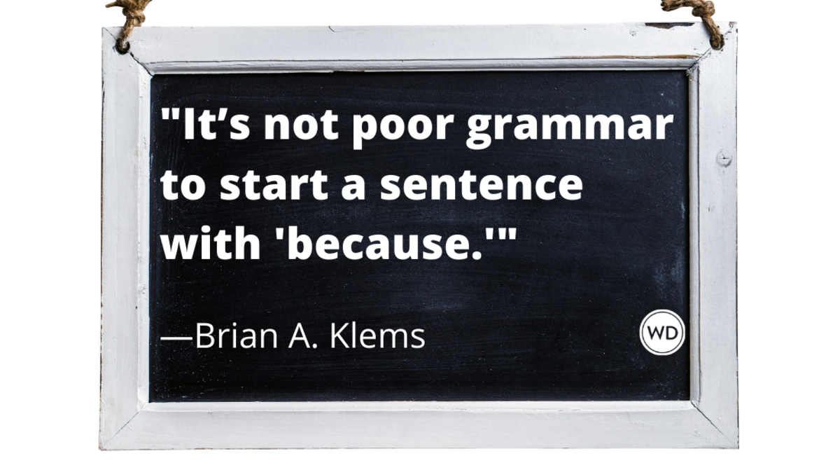 Can You Start a Sentence With Because?