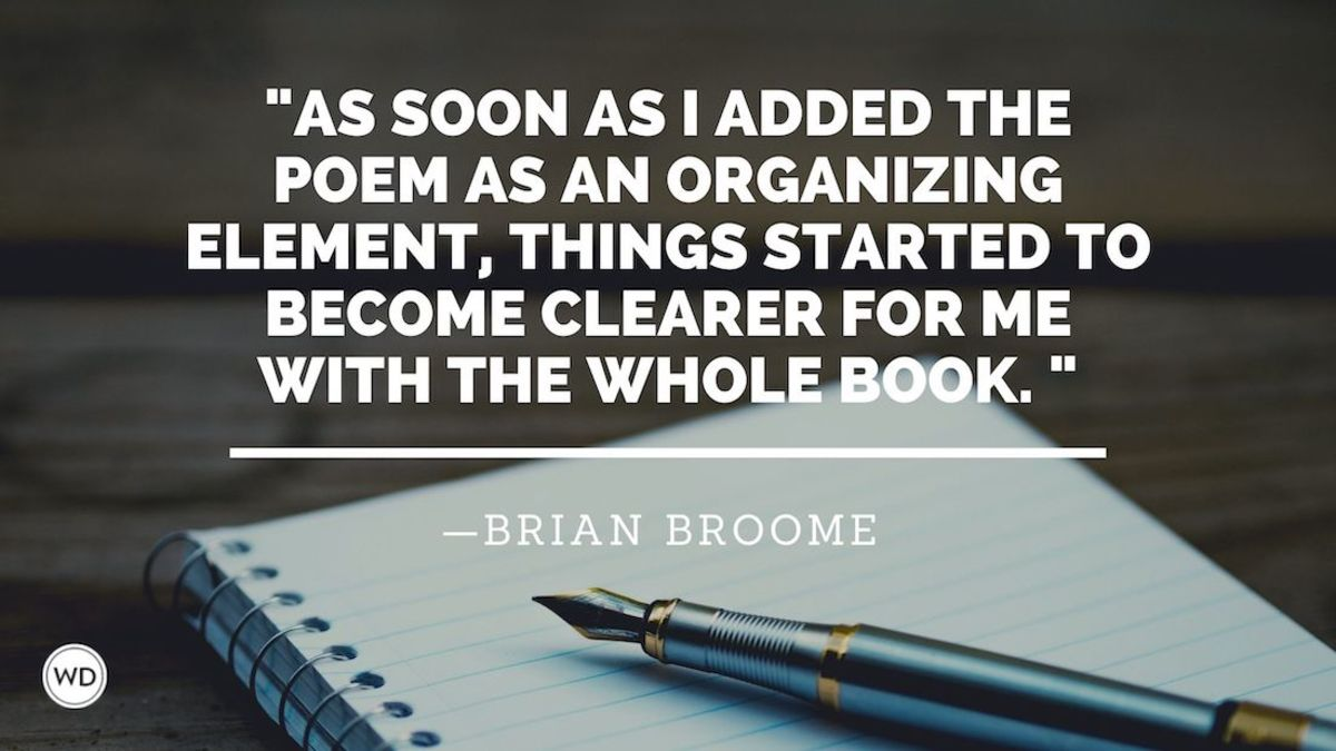 Brian Broome: On Letting Other Genres Inspire You